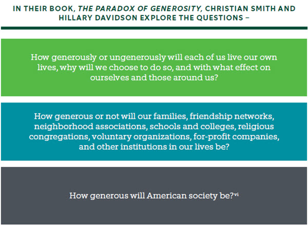 Questions about Generosity