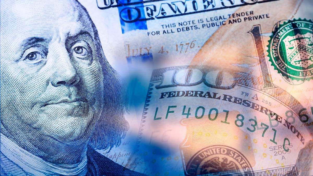 Blue Dollar Bill image