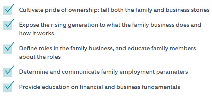 Initial steps we recommend family business owners consider.
